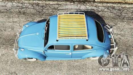 GTA 5 Volkswagen Fusca 1968 v0.9 [replace] vista trasera