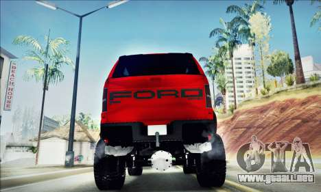 Ford F150 Raptor Long V12 para visión interna GTA San Andreas