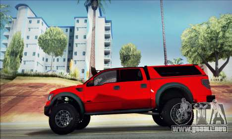 Ford F150 Raptor Long V12 para GTA San Andreas left