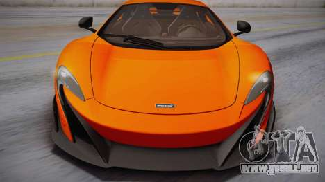McLaren 675LT 2015 10-Spoke Wheels para GTA San Andreas vista posterior izquierda