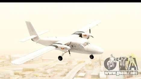 DHC-6-400 All White para GTA San Andreas vista posterior izquierda