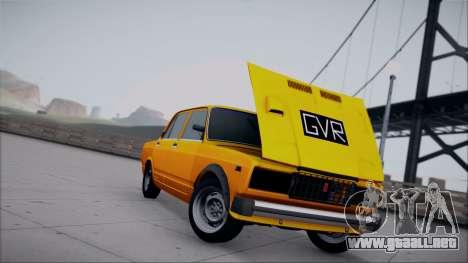 VAZ 2105 parche 1.1 para GTA San Andreas vista posterior izquierda
