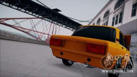 VAZ 2105 parche 1.1 para la visión correcta GTA San Andreas