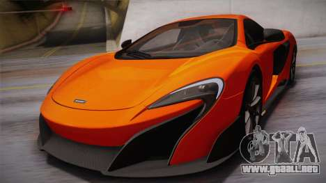 McLaren 675LT 2015 10-Spoke Wheels para vista lateral GTA San Andreas