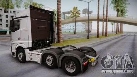 Mercedes-Benz Actros Mp4 6x2 v2.0 Steamspace para GTA San Andreas left