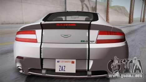 NFS: Carbon TFKs Aston Martin Vantage para GTA San Andreas vista hacia atrás