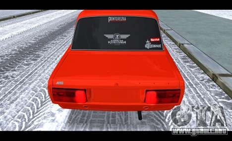 VAZ 2105 parche v3 para GTA San Andreas vista hacia atrás