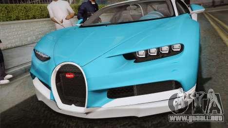 Bugatti Chiron 2017 v2.0 Korean Plate para la visión correcta GTA San Andreas