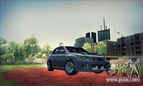 Subaru Impreza WRX STI 2011 para vista lateral GTA San Andreas