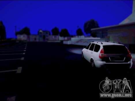 Lada 2171 para GTA San Andreas vista posterior izquierda