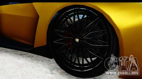 GTA 5 Pegassi Reaper IVF para GTA San Andreas vista hacia atrás