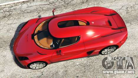 GTA 5 Koenigsegg Regera 2016 v1.1a [add-on] vista trasera