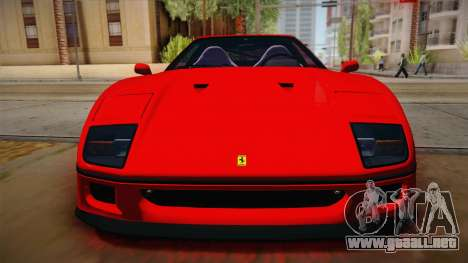 Ferrari F40 (US-Spec) 1989 HQLM para la visión correcta GTA San Andreas