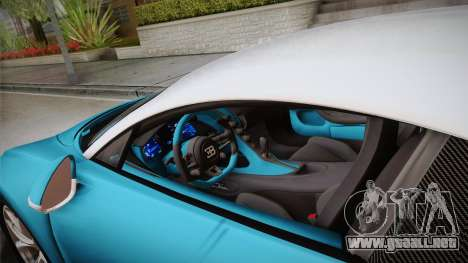 Bugatti Chiron 2017 v2.0 Korean Plate para visión interna GTA San Andreas