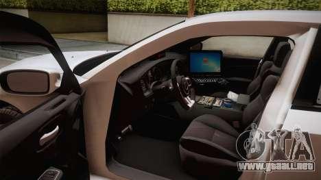 Dodge Charger 2013 Undercover para visión interna GTA San Andreas