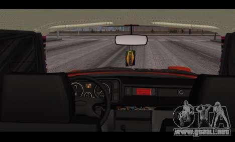 VAZ 2105 parche v3 para GTA San Andreas vista posterior izquierda