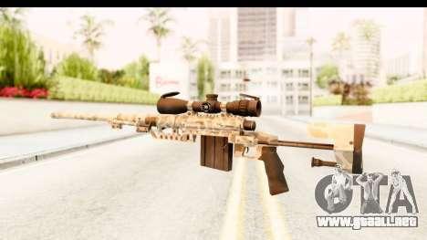 Cheytac M200 Intervention Desert Camo para GTA San Andreas segunda pantalla