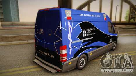Mercedes-Benz Sprinter 2012 Midwest Ambulance para GTA San Andreas left