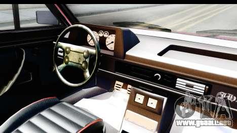 Volkswagen Passat Pointer GTS 1.8 1988 para visión interna GTA San Andreas
