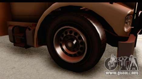 GTA 4 Vapid Benson para GTA San Andreas vista hacia atrás