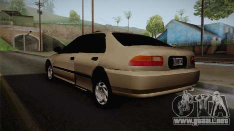 Honda Civic Sedan EX 1993 para GTA San Andreas left