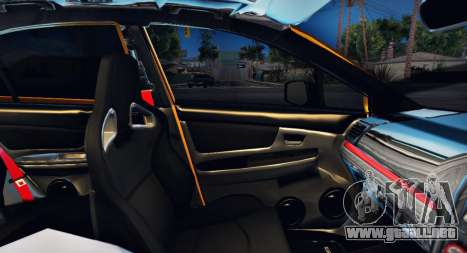 Subaru WRX STI S207 NBR CHALLENGE YELLOW EDITION para vista inferior GTA San Andreas