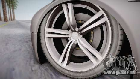 NFS: Carbon TFKs Aston Martin Vantage para GTA San Andreas vista posterior izquierda