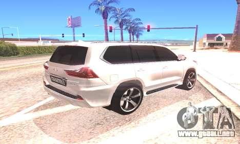 Lexus LX570 para la visión correcta GTA San Andreas