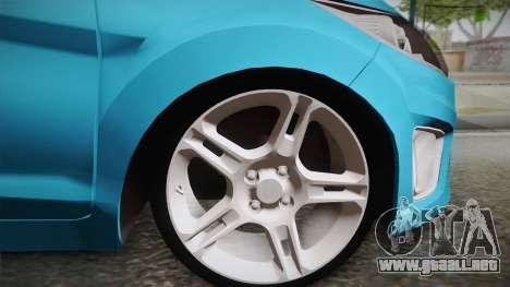 Ford Fiesta Kinetic Design para GTA San Andreas vista posterior izquierda