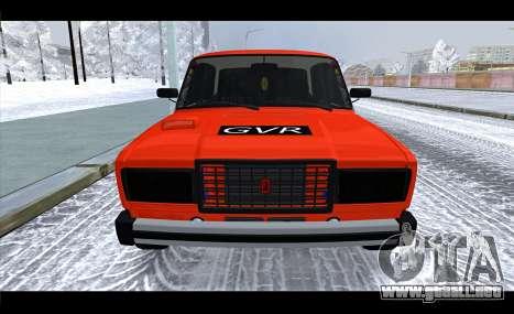 VAZ 2105 parche v3 para la visión correcta GTA San Andreas