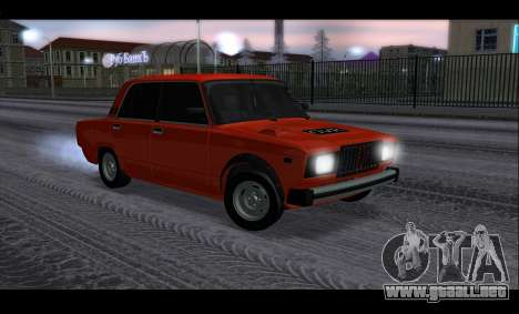 VAZ 2105 parche v3 para visión interna GTA San Andreas