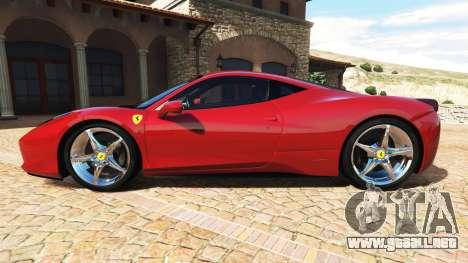 GTA 5 Ferrari 458 Italia v2.0 [add-on] vista lateral izquierda