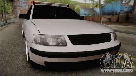 Volkswagen Passat 2.0 TDI para GTA San Andreas vista posterior izquierda