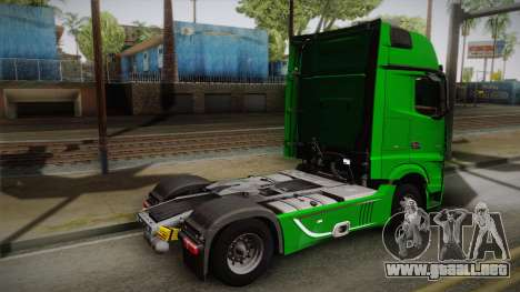Mercedes-Benz Actros Mp4 4x2 v2.0 Gigaspace para GTA San Andreas left