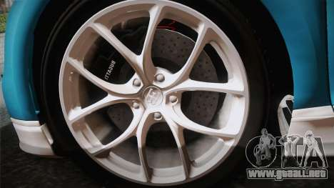 Bugatti Chiron 2017 v2.0 Korean Plate para GTA San Andreas vista posterior izquierda