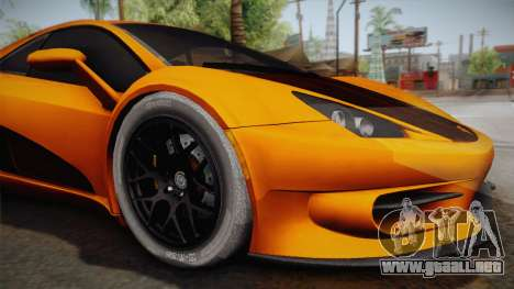 HTT Plethore LC750 2012 para GTA San Andreas vista hacia atrás