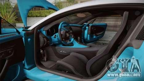 Bugatti Chiron 2017 v2.0 Korean Plate para vista inferior GTA San Andreas