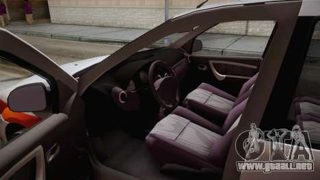 Dacia Logan Facelift Ambulanta v3 para la visión correcta GTA San Andreas