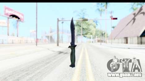 CS:GO - Bowie Knife para GTA San Andreas segunda pantalla