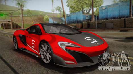 McLaren 675LT 2015 10-Spoke Wheels para el motor de GTA San Andreas