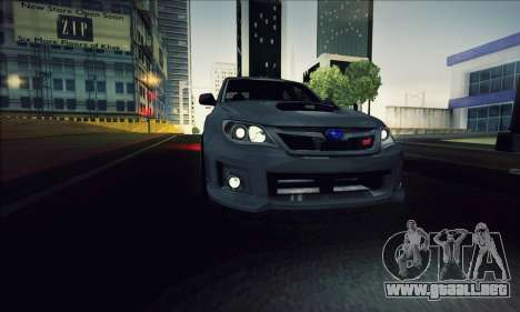 Subaru Impreza WRX STI 2011 para GTA San Andreas vista hacia atrás