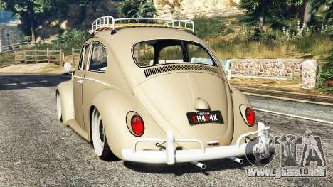 GTA 5 Volkswagen Fusca 1968 v0.8 [replace] vista lateral izquierda trasera