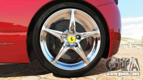 GTA 5 Ferrari 458 Italia v2.0 [add-on] vista lateral trasera derecha