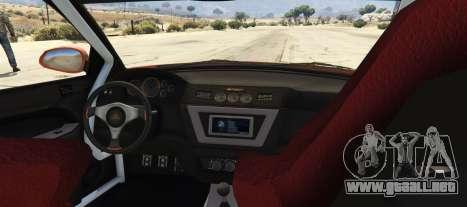 GTA 5 Maibatsu Revolution SG-RX (Tuners and Outlaws) vista lateral izquierda trasera