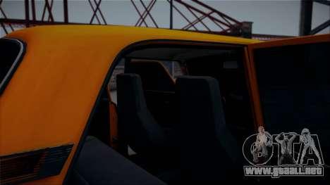 VAZ 2105 Pigler 1.0 para la visión correcta GTA San Andreas