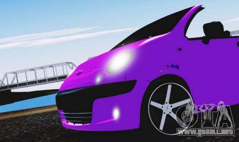 Daewoo Matiz para la visión correcta GTA San Andreas