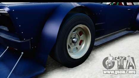 GTA 5 Declasse Tampa Drift para GTA San Andreas vista hacia atrás