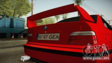 BMW M3 E36 Stance para GTA San Andreas vista hacia atrás