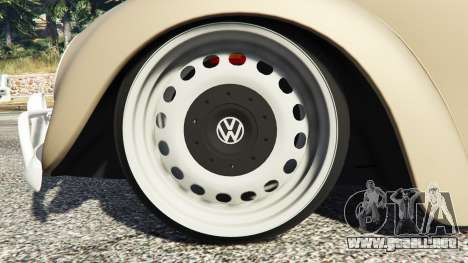 GTA 5 Volkswagen Fusca 1968 v0.8 [replace] vista lateral derecha