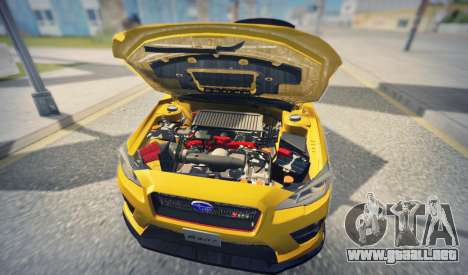 Subaru WRX STI S207 NBR CHALLENGE YELLOW EDITION para visión interna GTA San Andreas